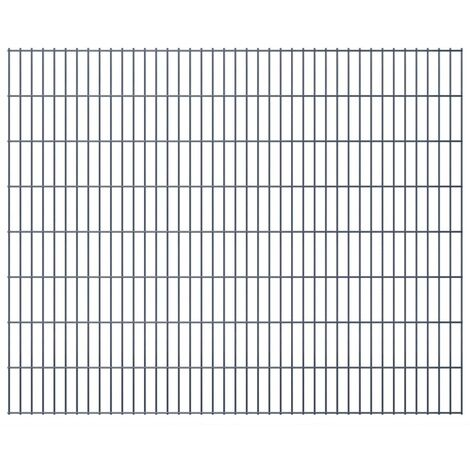 2D Garden Fence Panels 2008x1630 mm 42 m Grey