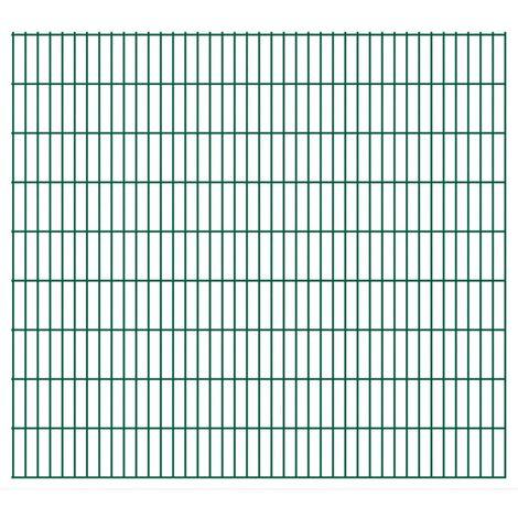 2D Garden Fence Panels 2008x1830 mm 20 m Green