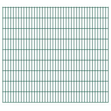 2D Garden Fence Panels 2008x1830 mm 26 m Green