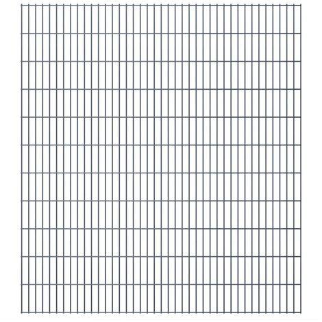 2D Garden Fence Panels 2008x2230 mm 34 m Grey