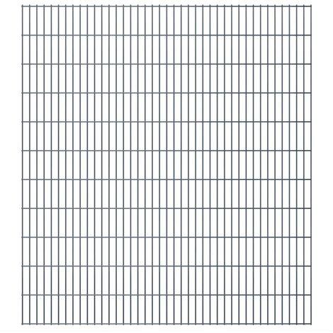 2D Garden Fence Panels 2008x2230 mm 40 m Grey