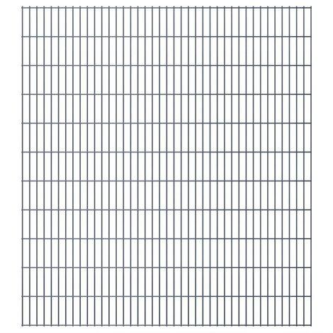 2D Garden Fence Panels 2008x2230 mm 46 m Grey