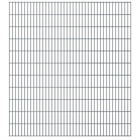 2D Garden Fence Panels 2008x2230 mm 48 m Grey