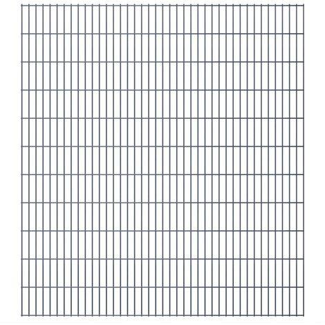 2D Garden Fence Panels 2008x2230 mm 6 m Grey