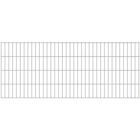 2D Garden Fence Panels 2008x830 mm 12 m Silver