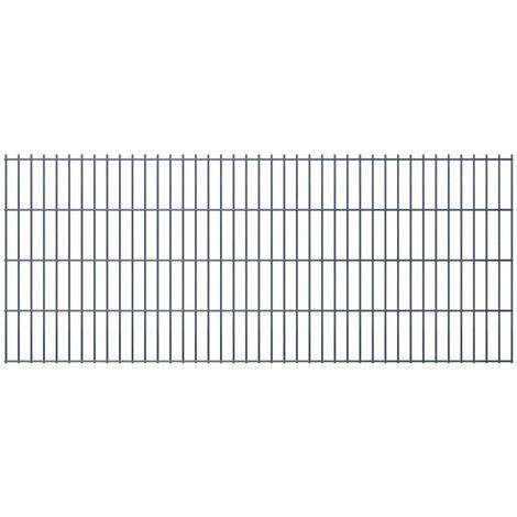 2D Garden Fence Panels 2008x830 mm 40 m Grey