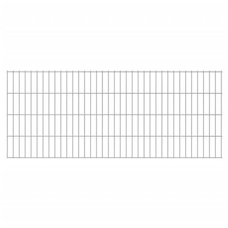 2D Garden Fence Panels 2008x830 mm 44 m Silver