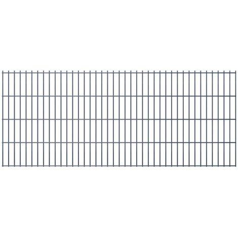 2D Garden Fence Panels 2008x830 mm 48 m Grey