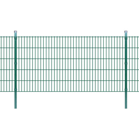 2D Garden Fence Panels & Posts 2008x1030 mm 22 m Green