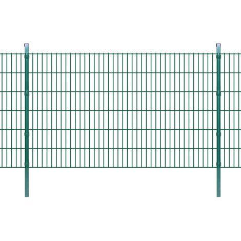 2D Garden Fence Panels & Posts 2008x1230 mm 14 m Green