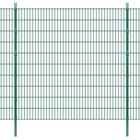 2D Garden Fence Panels & Posts 2008x2030 mm 20 m Green