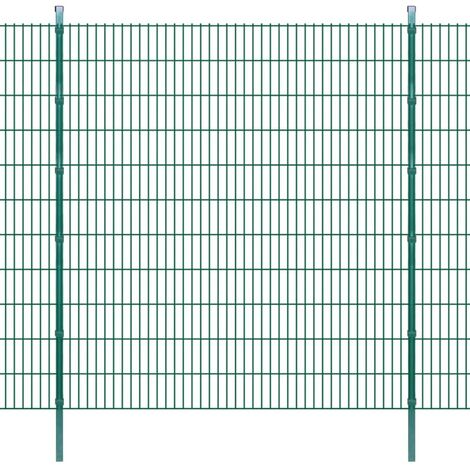 2D Garden Fence Panels & Posts 2008x2230 mm 10 m Green