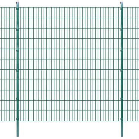 2D Garden Fence Panels & Posts 2008x2230 mm 22 m Green