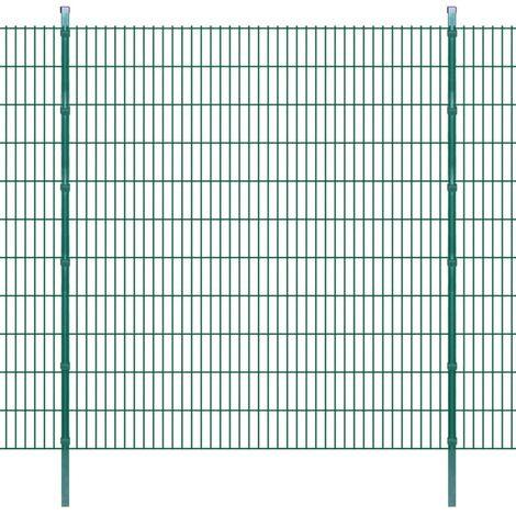 2D Garden Fence Panels & Posts 2008x2230 mm 46 m Green