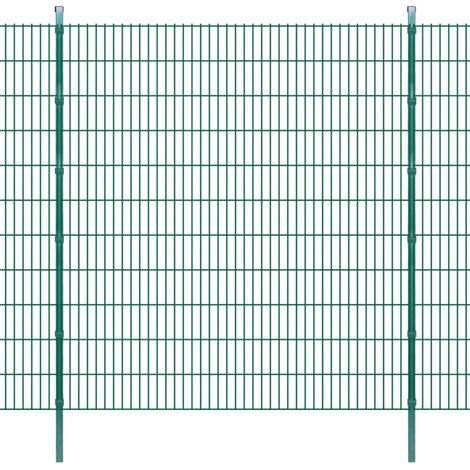 2D Garden Fence Panels & Posts 2008x2230 mm 50 m Green