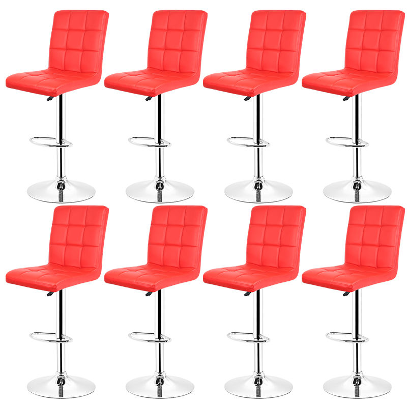 8er Set Barhocker Barstuhl Rot Loungesessel Barsessel Stuhl Kunstleder - WYCTIN