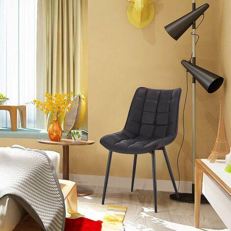 2er-Set Küchenstühle aus Kunstleder Elif anthrazit