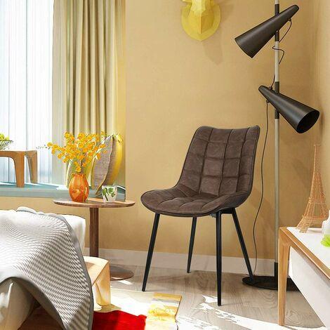2er-Set Küchenstühle aus Kunstleder Elif braun