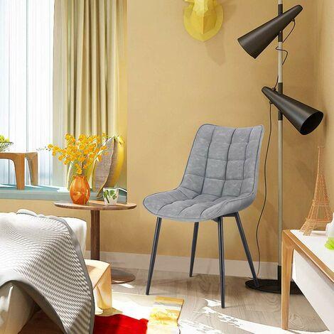2er-Set Küchenstühle aus Kunstleder Elif grau