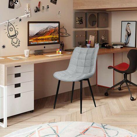 2er-Set Küchenstühle aus Leinen Elif hellgrau