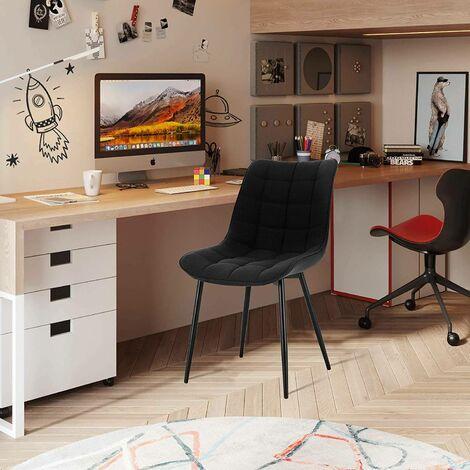 2er-Set Küchenstühle aus Leinen Elif schwarz