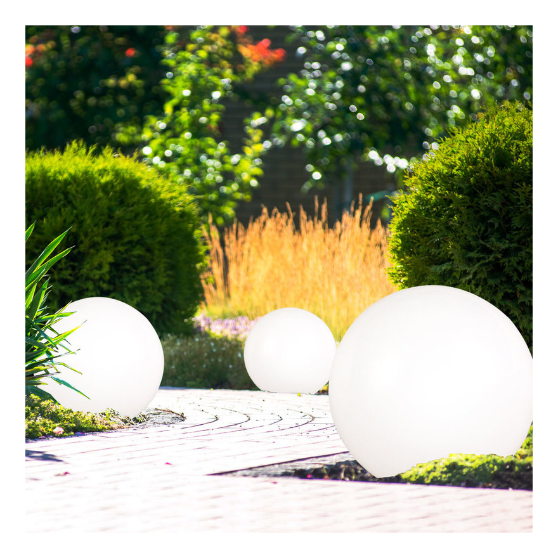 2x 15cm schwimmfähige Solar Leuchtkugel Fernbedienung Kugel Teichkugel Garten