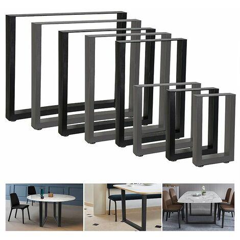 2er Set Tischgestell Schwarz 90x72 cm Tischuntergestell Tischkufen Tischbeine