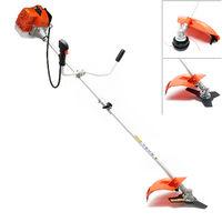 2in1 Petrol Brushcutter Grass Trimmer Garden Tool, 3HP 2.2kw 52ccm 900r/min
