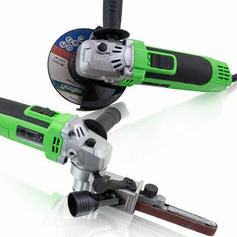 2in1 Winkelschleifer 125 mm Elektrofeile Fingerschleifer Trennschleifer 650W Drehzahl einstellbar in 6 Stufen:5000-11000 U/min
