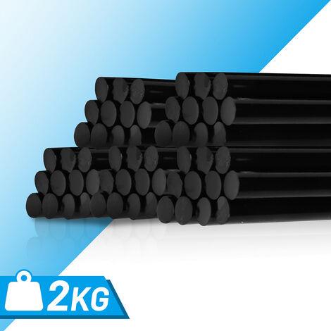 2kg Heibkleber 110St Schwarz Universal Heisskleber Klebesticks 11 x 200 mm rund Schmelzklebesticks DIY Handwerk