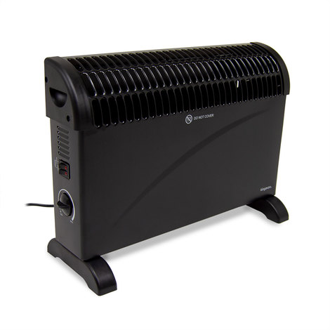2kW Convector Heater with Thermostat - Black