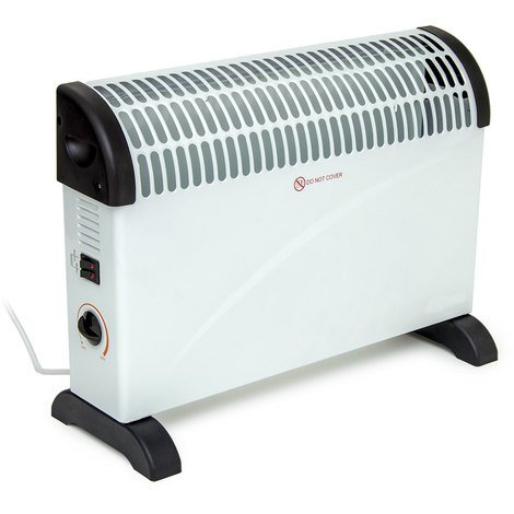 2kW Convector Heater with Thermostat - White
