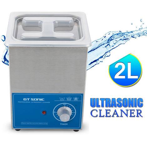 2L Réservoir d'eau 50W Nettoyeur à ultrasons pour lunettes en métal UK PLUG