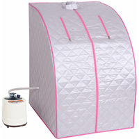 2L Steam Sauna Portable Spa Room Home Full Body Slimming Detox Therapy W/Chair