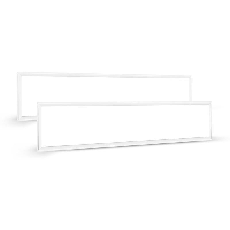 2×LED Panel 60W Hängeleuchte Deckenleuchte Deckenlampe, 4000 lumen, Tageslichtweiß-6000K, rechteckig 30x120CM, IP20, mit Befestigungsmaterial und LED