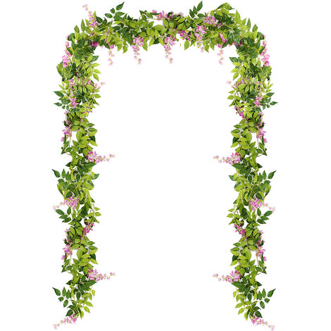 2m 6.56ft flor artificial seda glicina guirnalda vides boda pie arco flor LAVENTE