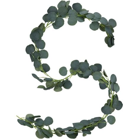 2m Artificial Eucalyptus, Artificial Plant Leaf Garland, Eucalyptus Leaf for Wedding Arches, Home Kitchens, Offices, Wall Decorations