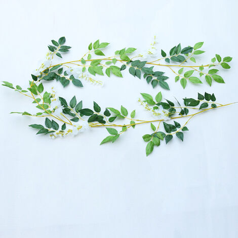 2M Artificial Flower Garland 6.6ft Wisteria Plant Vine Hanging Floral Home