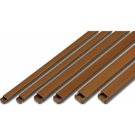 2m. de canaleta adhesiva marrón 10x20mm. (Famatel 71629A)
