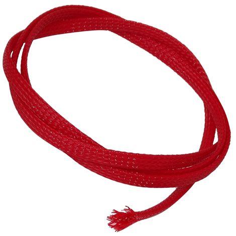 2m mètres 8mm 7-13 gaine tressée thermorétractable manchon de câble fil électrique rouge