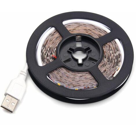 2M TV Strip Light Flexible Tape 2835 SMD 120LED USB waterproof IP65 DC5V deco Red WASHED