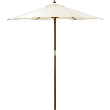 2m Wooden Garden Parasol