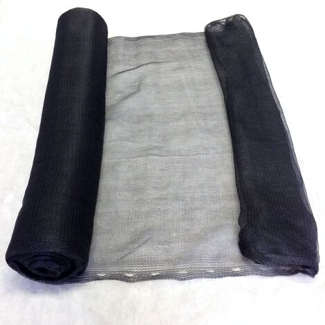 2m x 10m Yuzet Black Debris Scaffold Netting/Windbreak Shade Crop Protection