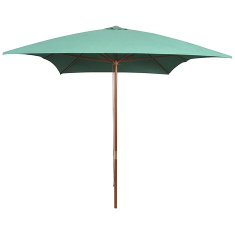 2m x 3m Rectangular Traditional Parasol by Freeport Park - Green