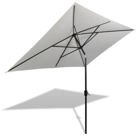 2m x 3m Rectangular Traditional Parasol by Freeport Park - White
