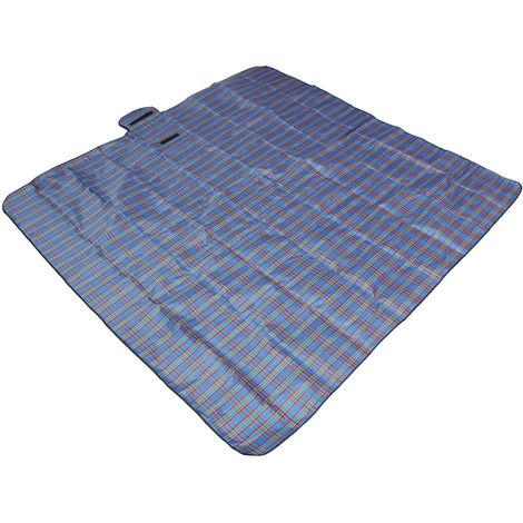 2m*2m Mat Tapis de Sol Couverture Etanche Pliable Pour Pique-nique Camping Plage Bleu