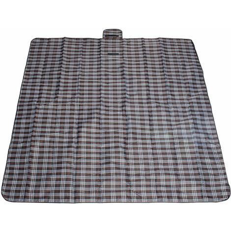 2m*2m Mat Tapis de Sol Couverture Etanche Pliable Pour Pique-nique Camping Plage Noir