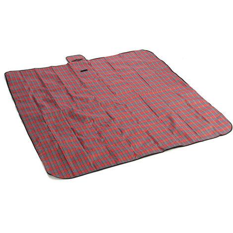 2m*2m Mat Tapis de Sol Couverture Etanche Pliable Pour Pique-nique Camping Plage Rouge