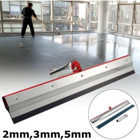 2mm raclette crantée époxy ciment peinture revêtement auto nivelant plancher engrenage rateau 2mm Dents de grattage de 2 mm
