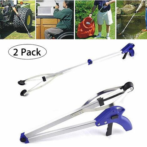 2pack 32 pliable Reacher Grabber, Grip Grabber Pick Up Tool pour ramasseur de litière, poubelle / poubelle, jardin Nabber, longue rallonge